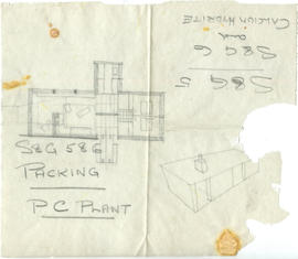 A sketch of a plan and 3D building: Packing PC Plant