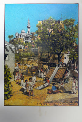 Print of North African playground