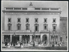 Photographic print of engraving of the exterior of 309 Regent Street