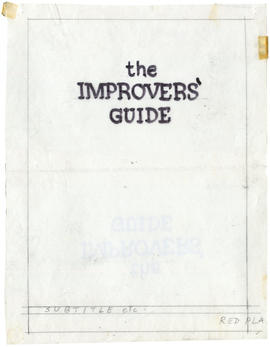 A title page: The Improvers' Guide