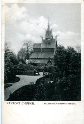 Postcard: Fantoft Church, Norway