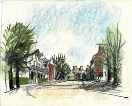 A sketch of a streetscape