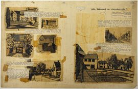A layout with sketches and printed text: Townscape