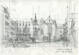 A sketch of a building: A feeling of excitement but a local civic space