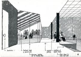 Drawing of building interior