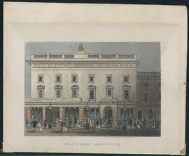 Engraving of the exterior of 309 Regent Street