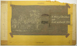 A print of a Christmas Card and other documents