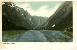 Colour postcard: Naerofjord, Norway