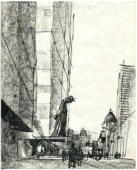 A sketch of a street