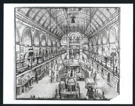 Engraving of the interior of Great Hall
