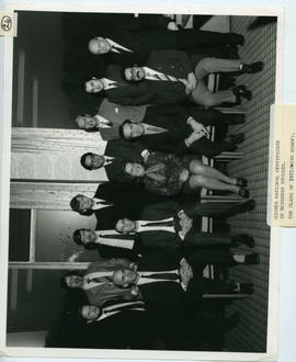 Photograph: Higher National Certificate in Business Studies: Class of 1971 (with staff)
