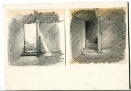 Sketches of a staircase