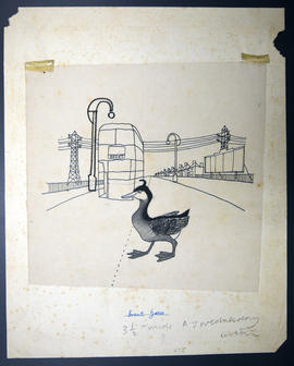 Sketch of a goose