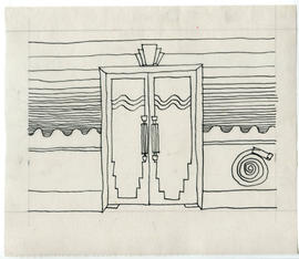 Sketch of doors