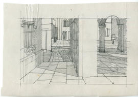 Sketch of a pedestrian area