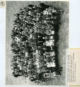 Photograph: College staff and guests in 1975 on the occasion of the retirement of the principal, ...
