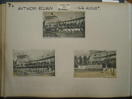 [page 34] Three photographs; The 1920 Olympic games Antwerp Belgium; 14 August 1920; Spain; America; Sweden