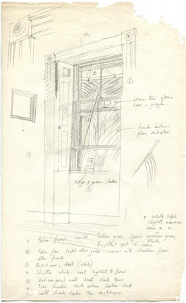 A sketch of a window with labelled details
