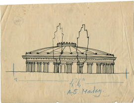 Sketch of a concert hall