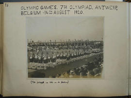 [page 16] One photograph: Olympic Games, Antwerp, 14 August 1920