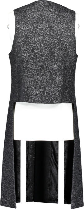 Alexander McQueen Antiqued Lace Overlayer Vest